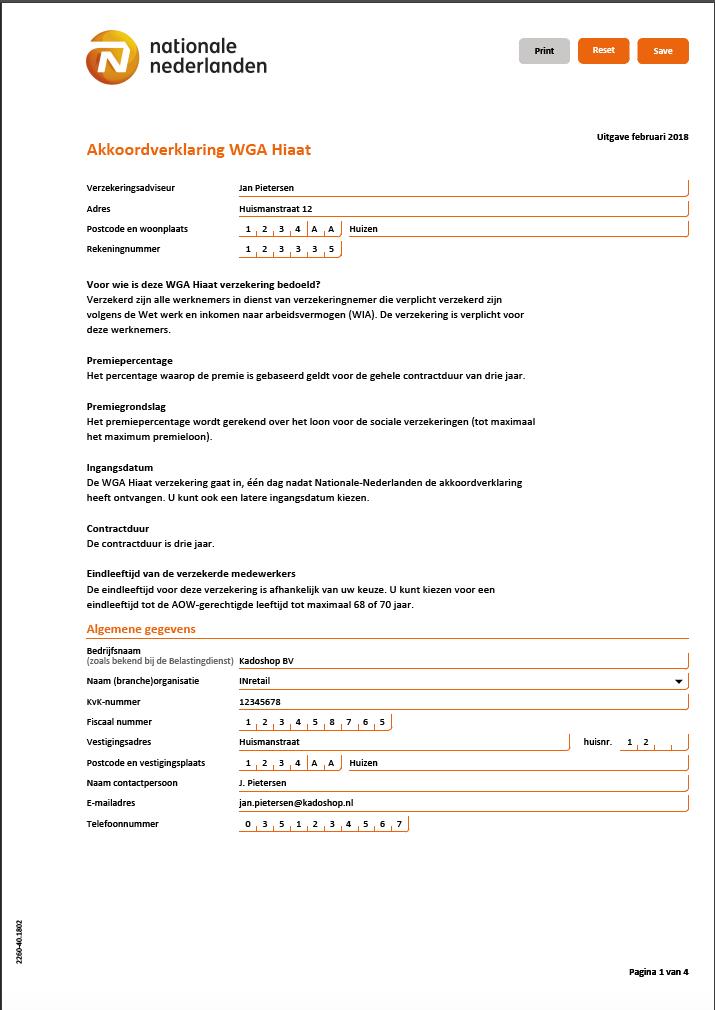 Stap 2: Vul het formulier in