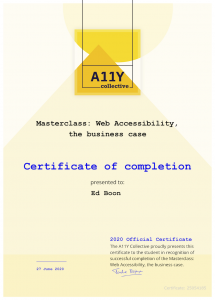 WCAG Certificaat Accessibility The Business case