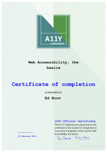 WCAG Certificaat Web Accessibility The Basics